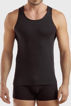 Črna bombažna spodnja majica PLUS SIZE