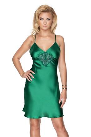 Razkošna satenasta spalna srajčka Emerald