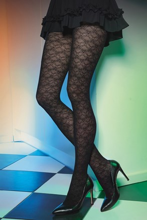 Vzorčaste hlačne nogavice Est Belle 03 50 DEN