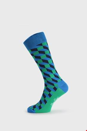 Zeleno-modre nogavice Happy Socks Filled Optic