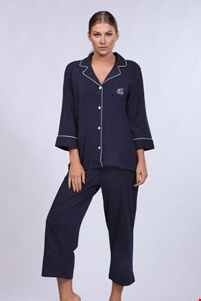 Ženska pižama Ralph Lauren Navy Dot