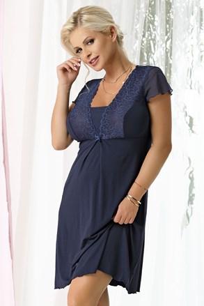 Ženska spalna srajčka Kristel Navy blue