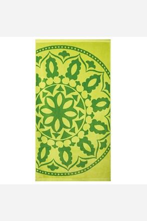 Brisača za na plažo Mandala, zelena