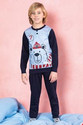 Deška pižama Bear, modra