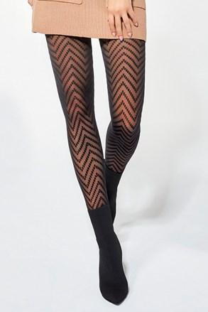 Vzorčaste hlačne nogavice Sonia 30 DEN