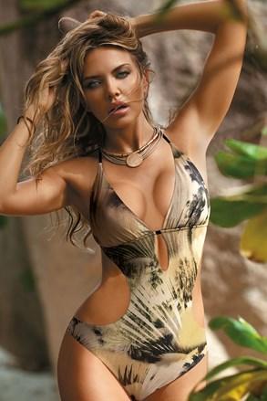 Ženske monokini kopalke Grenada khaki