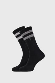 2 PACK črne nogavice Calvin Klein Maurice