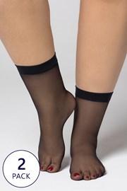 2 PACK najlonske nogavice Plus Size 20 DEN