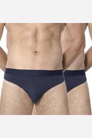 2 kosa moških spodnjic ROSSLI Stripes Blue