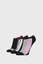 3 PACK črne ženske nogavice Calvin Klein Nola