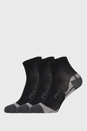 3 PACK črne nogavice FILA Multisport