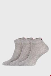 Trojno pakiranje sivih nizkih nogavic FILA