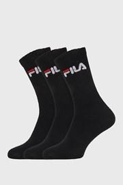 Trojno pakiranje črnih visokih nogavic FILA