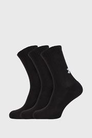 3 PACK črne visoke nogavice Core Under Armour