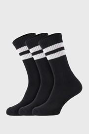 3 PACK črne nogavice Active