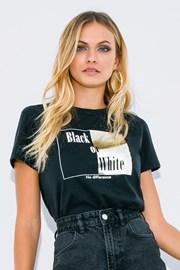 Ženska majica s kratkimi rokavi Black or White