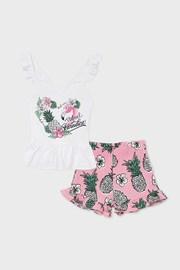 Komplet dekliški top in kratke hlače Mayoral Paradise