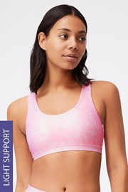 Roza športen modrček Strappy
