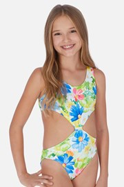 Enodelne dekliške kopalke Tropical