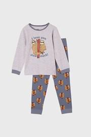 Deška pižama Lenochod, dolga