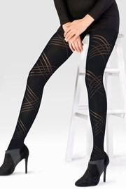Ženske hlačne nogavice Diagonal Lines 60 DEN