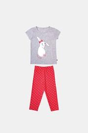 Dekliška pižama Buny sivo oranžna