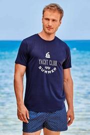 Temnomodra majica Yacht Club