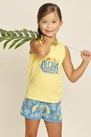 Dekliška pižama Aloha Palms