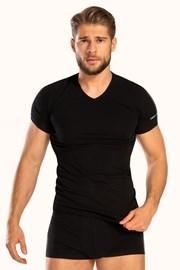 Moška majica V neck, črna