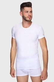 Bela bombažna majica PLUS SIZE