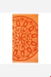 Brisača za na plažo Mandala, oranžna