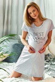 Spalna srajca za nosečnice in dojenje Best mom  siva