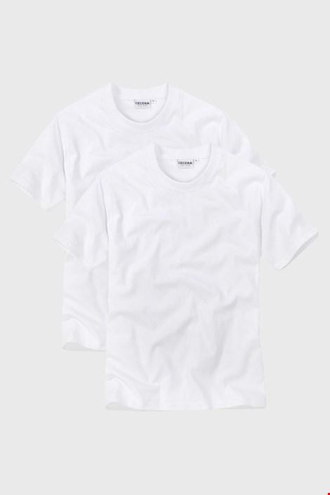 2 kosa moških majic White z V izrezom