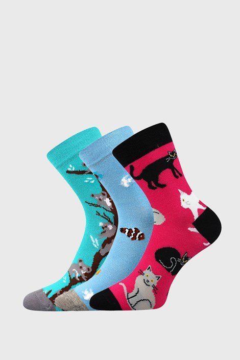 3 PACK dekliških nogavic Animals
