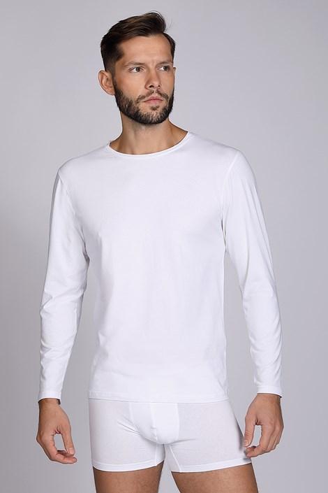 Bela majica z dolgimi rokavi Cotton Nature