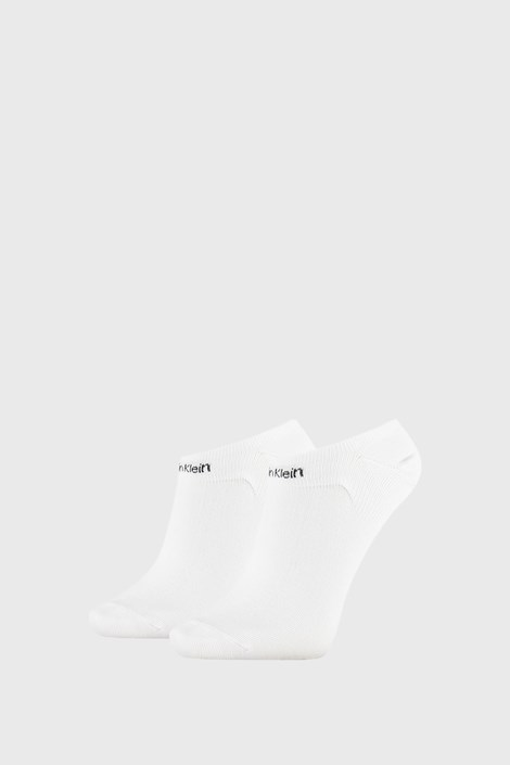 2 PACK bele ženske nogavice Calvin Klein Leanne