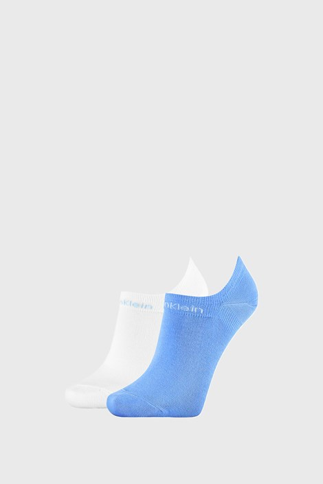 2 PACK modro bele ženske nogavice Calvin Klein Leanne