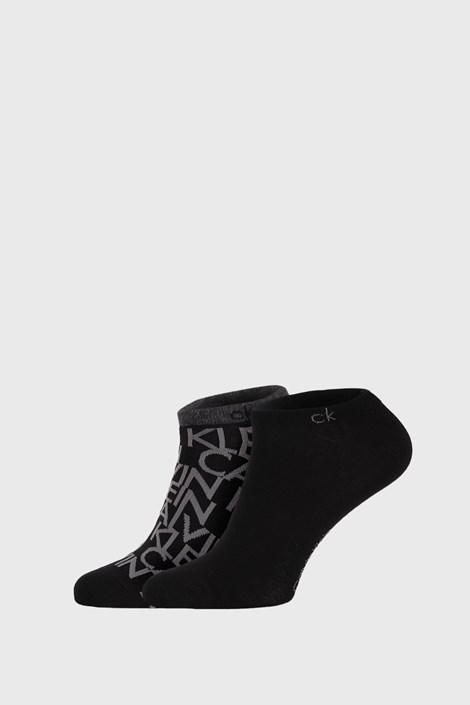 2 PACK črne nogavice Calvin Klein Deangelo