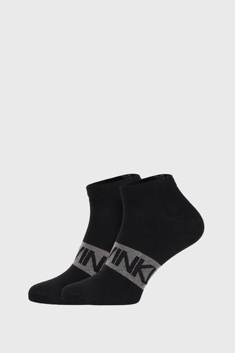 2 PACK črne nogavice Calvin Klein Dirk