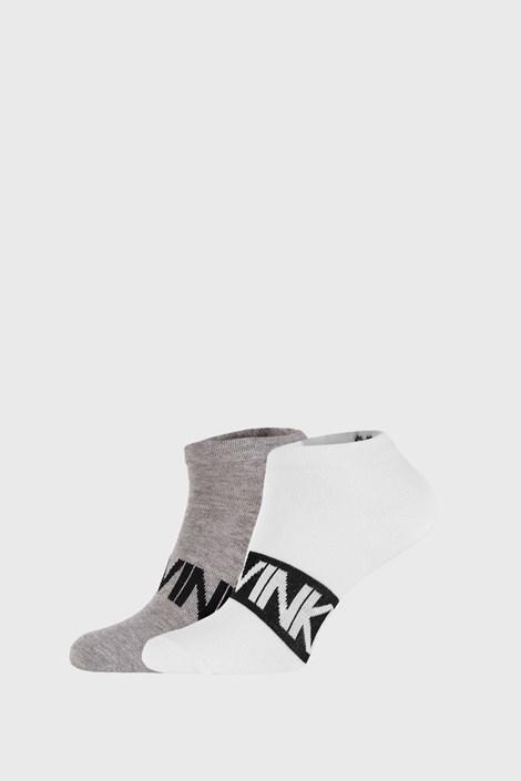 2 PACK sivo/bele nogavice Calvin Klein Dirk