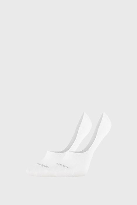 2 PACK bele ženske nogavice Calvin Klein Jessica