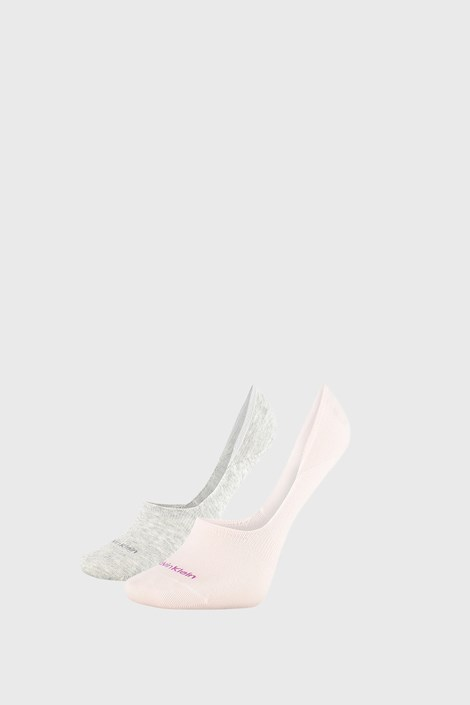 2 PACK sivo/roza ženske nogavice Calvin Klein Jessica
