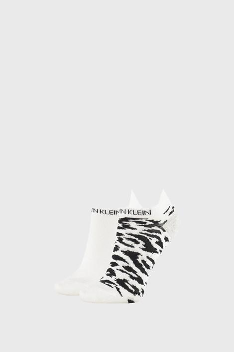 2 PACK bele ženske nogavice Calvin Klein Libby