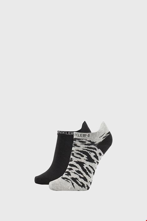 2 PACK sivo črne ženske nogavice Calvin Klein Libby