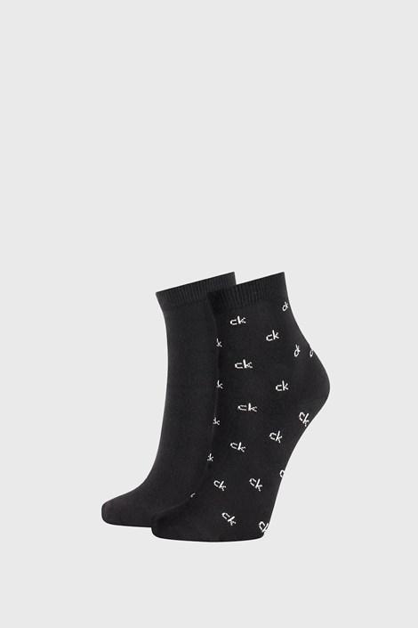 2 PACK črne ženske nogavice Calvin Klein Gretchen