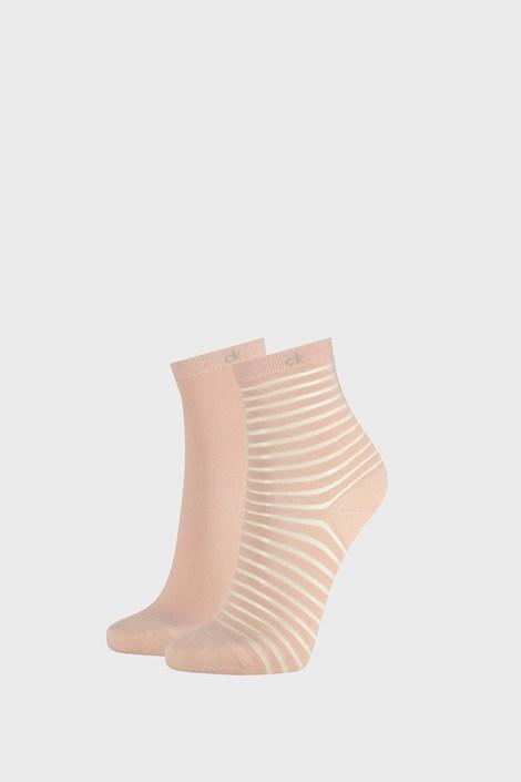 2 PACK roza ženske nogavice Calvin Klein Lilly