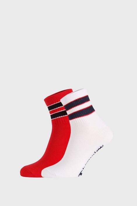 2 PACK belo rdeče nogavice Champion Legacy
