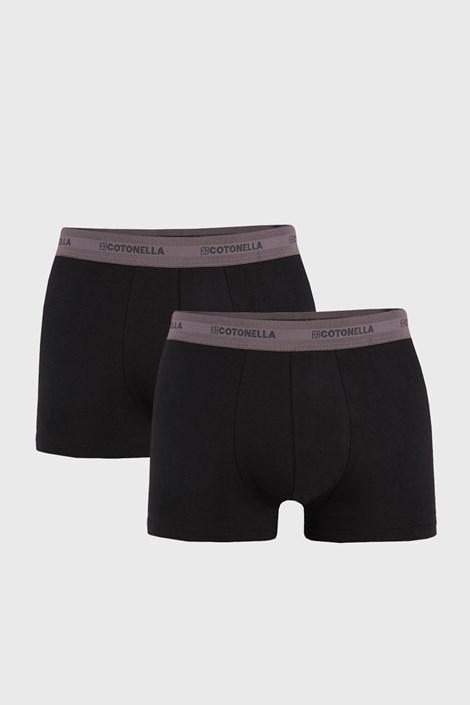 2 PACK sivo-črne boksarice Uomo Comfort