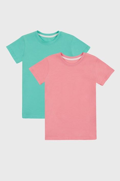 2 PACK dekliških basic majic