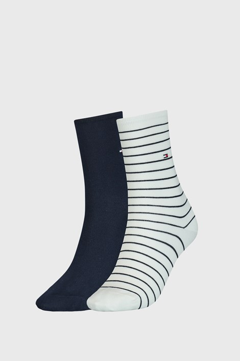 2 PACK modro bele ženske nogavice Tommy Hilfiger Stripes